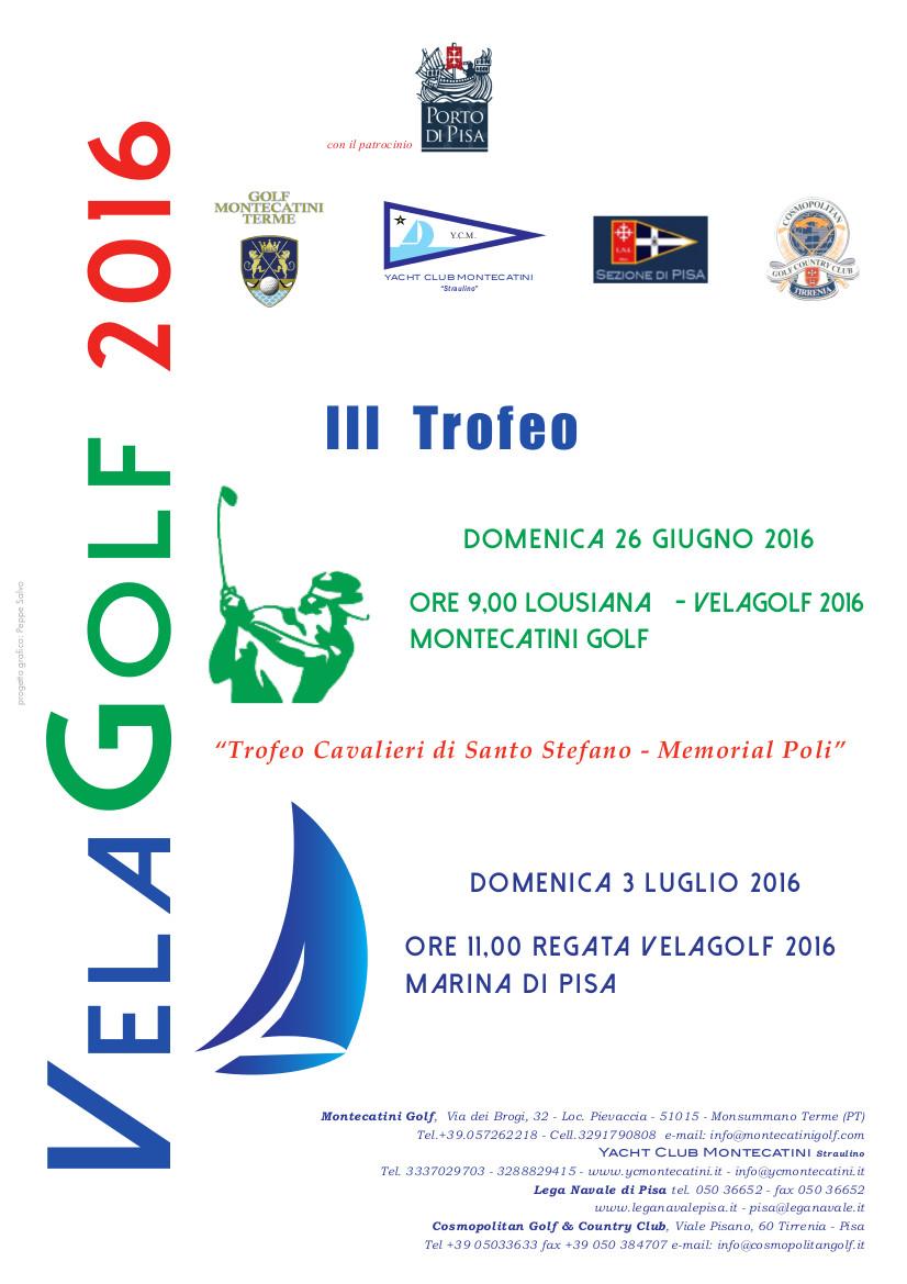 Locandina 3 vela golf 2016